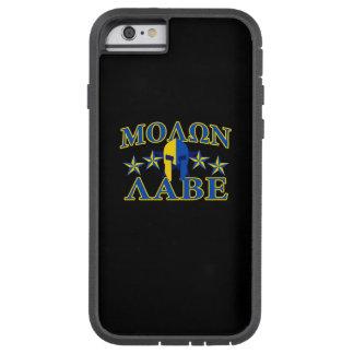Le guerrier spartiate 5 de Molon Labe tient le Coque Tough Xtreme iPhone 6