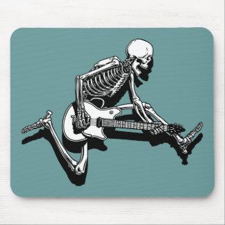 Le guitariste squelettique sautent tapis de souris