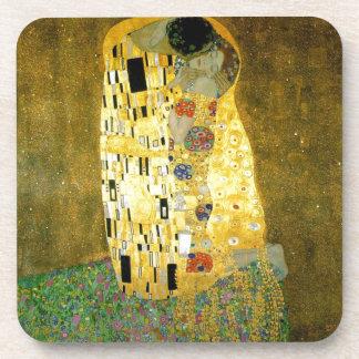 Le ~ Gustav Klimt de baiser Dessous-de-verre