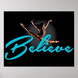 Le gymnaste croient l'affiche posters