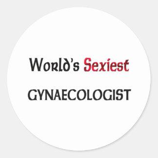 Le gynécologue le plus sexy du monde autocollants ronds