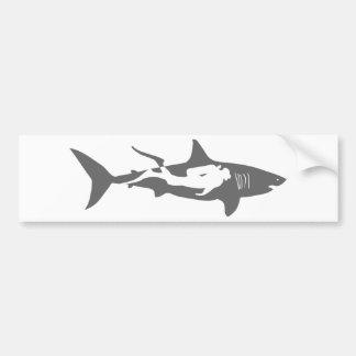 le hai de plongée de plongeur autonome de requin t autocollant pour voiture