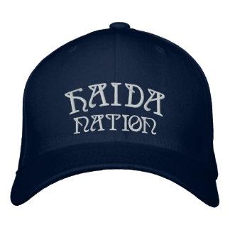 Le Haida a brodé le casquette de Haida de
