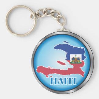 Le Haïti Button.ai rond Porte-clé Rond