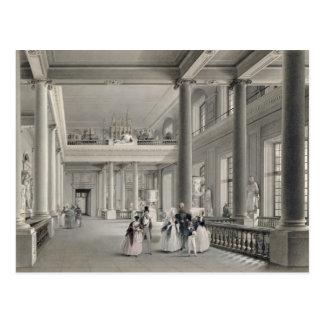 Le hall d'entrée supérieur de l'académie de carte postale