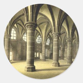 Le hall des chevaliers, St Michel, cru de Mont de Sticker Rond