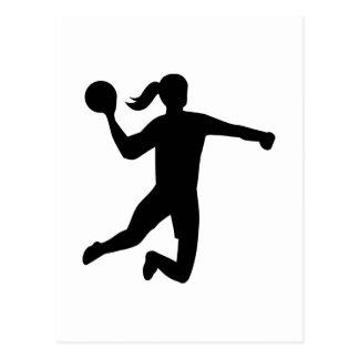 Le handball des femmes carte postale