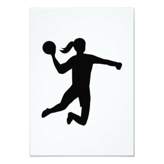 Le handball des femmes carton d'invitation