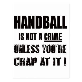 Le handball n'est pas un crime cartes postales