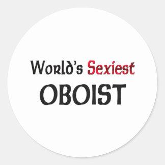 Le hautbois le plus sexy du monde autocollants ronds