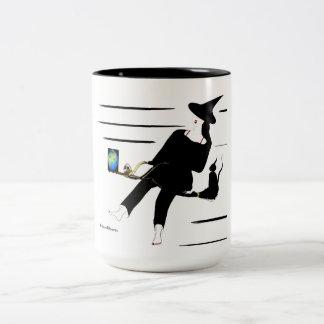 Le Heks sur le balai luxueux Mug Bicolore
