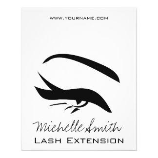 Le henné noir d'extension de mèche d'eye-liner prospectus 11,4 cm x 14,2 cm