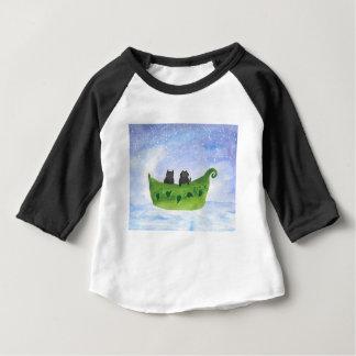 Le hibou et le minou t-shirt pour bébé