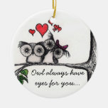 Le hibou ont toujours des yeux pour vous… - Orneme Ornements De Noël