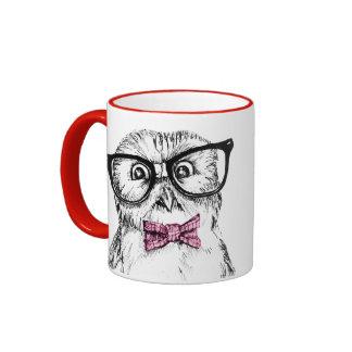 Le hibou ringard vous observe mug ringer