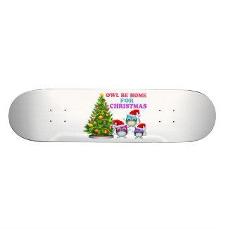 Le hibou soit à la maison pour Noël Skateboard