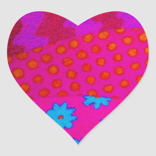 Le HIPPIE - art abstrait vibrant coloré frais Autocollants