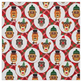 le hippie de Noël monkeys le tissu de Noël