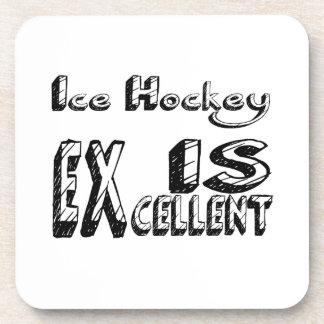Le hockey sur glace est excellent dessous-de-verre