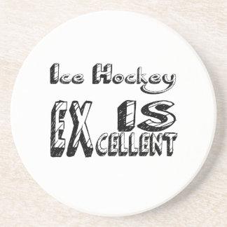 Le hockey sur glace est excellent dessous de verre en grès