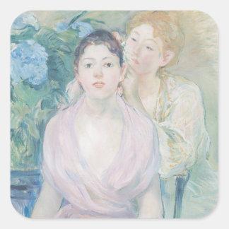 Le Hortensia, ou les deux soeurs, 1894 Autocollants Carrés