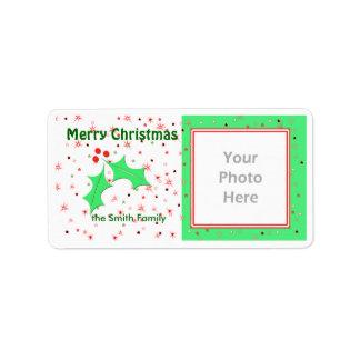Le houx de Joyeux Noël tient le premier rôle le Étiquette D'adresse
