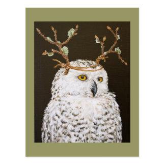 Le Hudson la carte postale neigeuse de hibou