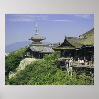 Le Japon, Kyoto, la vue du temple de Kiyomizu Affiche