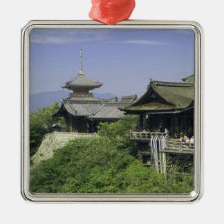 Le Japon, Kyoto, la vue du temple de Kiyomizu Ornement Carré Argenté