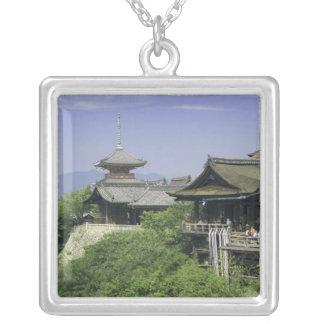 Le Japon, Kyoto, la vue du temple de Kiyomizu Pendentif Carré