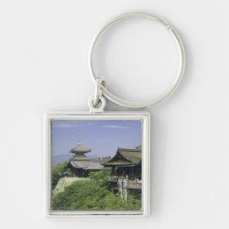 Le Japon, Kyoto, la vue du temple de Kiyomizu Porte-clé Carré Argenté