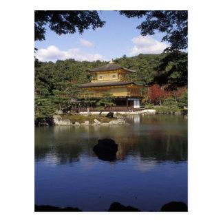 Le Japon, Kyoto, pavillon d'or, temple de zen Carte Postale