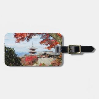 Le Japon, Kyoto. Temple de Kiyomizu dans la Étiquettes Bagages