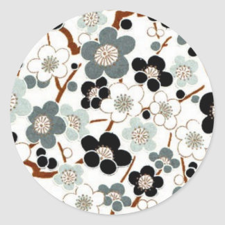 Le Japon, Sakura, kimono, origami, Chiyogami, Sticker Rond