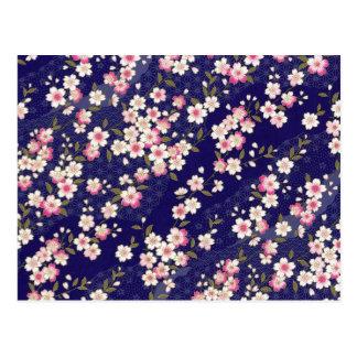 Le Japon Sakura kimono origami Chiyogami fleu Carte Postale