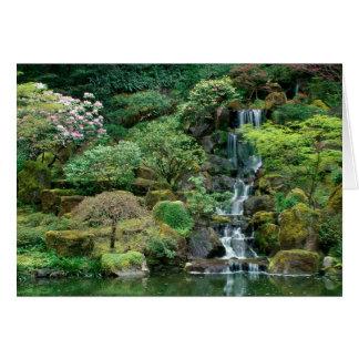 Le Japonais fait du jardinage Portland, Orégon Carte De Vœux