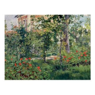 Le jardin chez Bellevue, 1880 Carte Postale