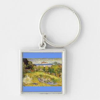 Le jardin de Daubigny par Vincent van Gogh Porte-clé Carré Argenté