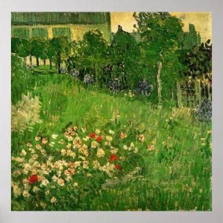 Le jardin de Daubigny par Vincent van Gogh Affiche