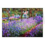 Le jardin de l'artiste chez Giverny, Claude Monet Cartes De Vœux