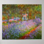 Le jardin de Monet par Claude Monet Affiche