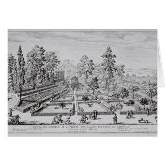 Le jardin de plaisir et le pavillon de pape Pius I Carte De Vœux