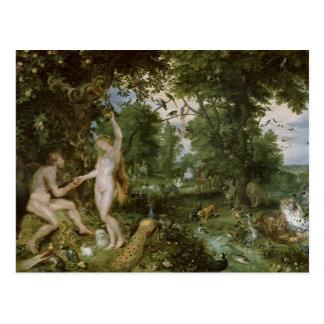 Le jardin d'Éden avec l'automne de l'homme, c.1615 Carte Postale