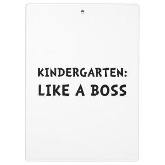 Le jardin d'enfants aiment un patron