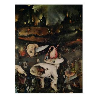 Le jardin des plaisirs terrestres, enfer carte postale