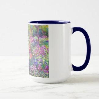 Le jardin d'iris au cool de Giverny Claude Monet, Mug