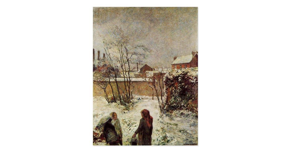 Le jardin en hiver rue carcel par paul gauguin cartes for Jardin 122 rue des poissonniers
