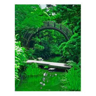 Le jardin japonais jette un pont sur la carte cartes postales