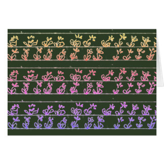 Le jardin note les cartes vierges fleuries de note