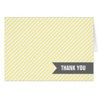 Le jaune barre des notes de Merci
